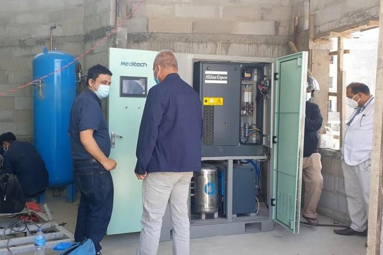 नेपाल-कोरियामैत्री नगरपालिका अस्पतालको प्लान्टबाट अक्सिजन उत्पादन सुरु