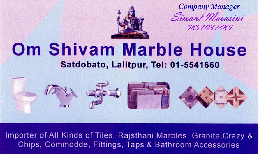 Om Shivam Marble house