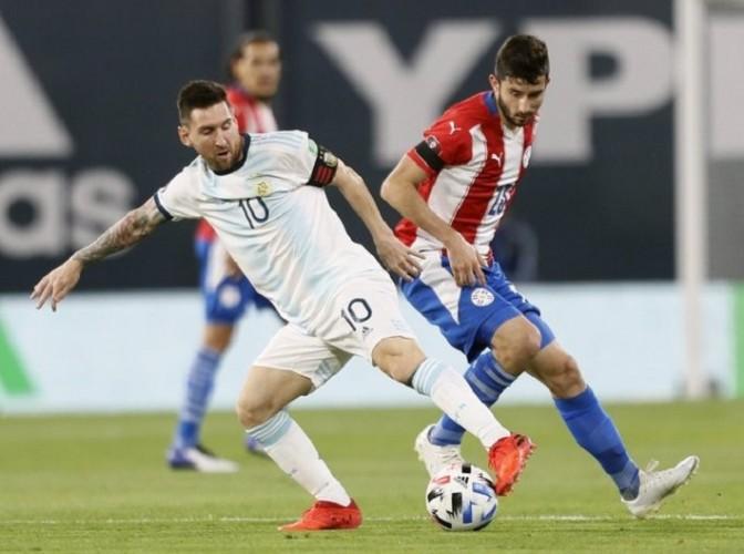 विश्वकप फुटबल छनोटमा अर्जेन्टिना-पाराग्वे बराबरी