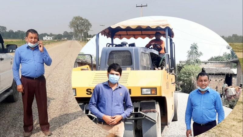 लुम्बिनी प्रदेशकै ठूलो सडक निर्माण आयोजनाले पायो तिव्रता, साम्सद केसीद्वारा अनुगमन